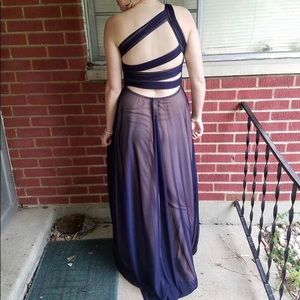 One shouldered prom dress
